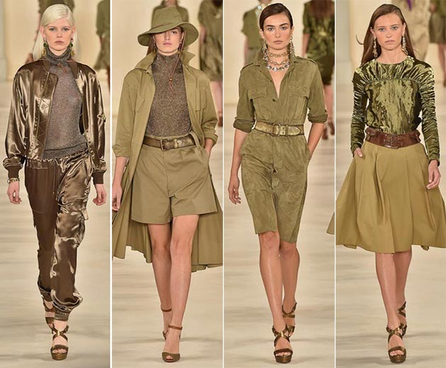 Women's Safari clothing by Ralph Lauren Spring 2015 - Monchromatic safari