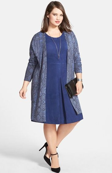 blue dress for apple shape