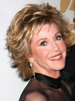 jane fonda - best short haircuts for women over 40